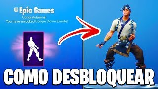 FORTNITE-HOW TO UNLOCK FREE EMOTE (BOOGIE DOWN) | 2-FACTOR AUTHENTICATION