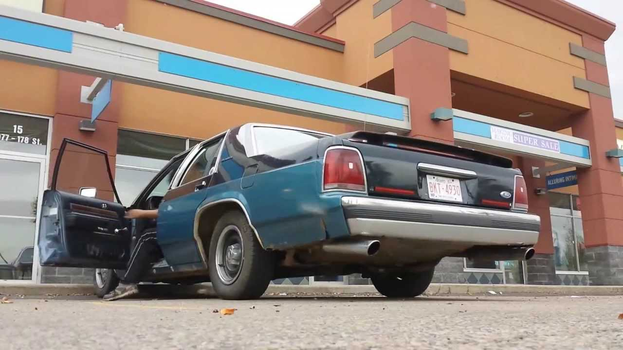 1988 ford ltd crown victoria straight dual exhaust youtube. Black Bedroom Furniture Sets. Home Design Ideas