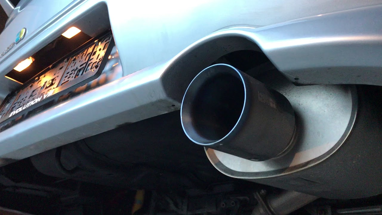 Mitsubishi Evo 8 Ralliart Exhaust Full Titan Youtube