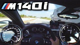 BMW M140i pushing on German Autobahn ✔