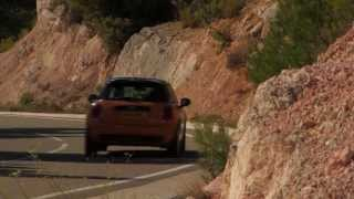 New 2015 Volcanic Orange MINI Cooper Driving Scenes