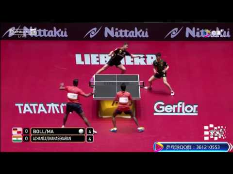 [20170531] MA Long / BOLL Timo vs ACHANTA / GNANASEKARAN | MD-R2 WTTC 2017 | Full Match