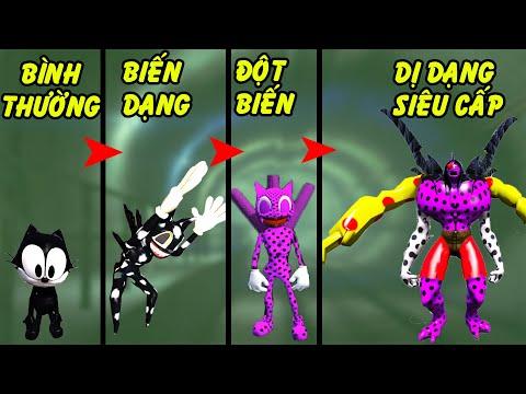 GTA 5 - Tôi biến thành Cartoon Cat đột biến siêu cấp từ 1 con mèo ở đợ   GHTG