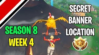 Fortnite Season 8 Week 4 Secret Banner / Battle Star Location (Discovery Challenges)