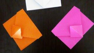 DIY! Как быстро сделать конверт оригами из бумаги без клея! Origami paper envelope without glue!