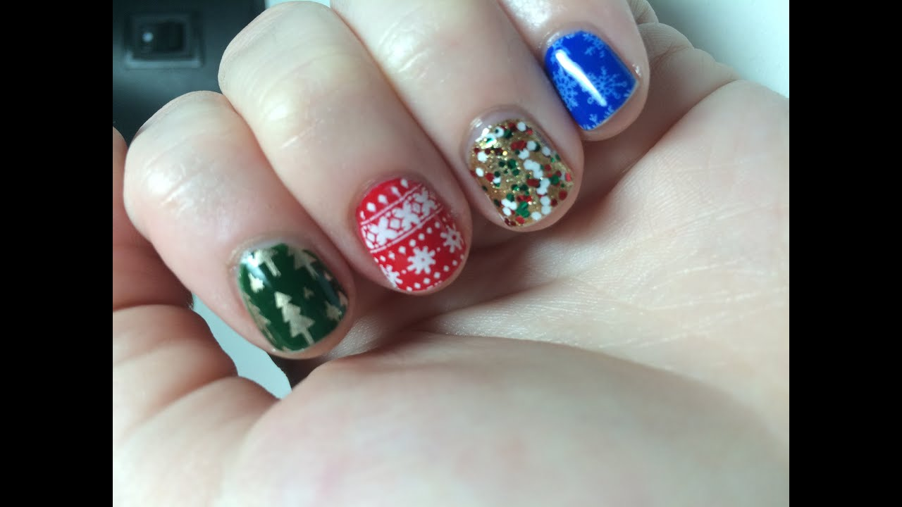 christmas nails featuring born