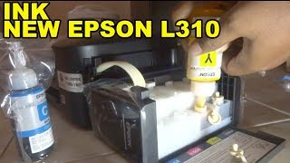 UNBOXING EPSON L310 Isi tinta dan test PRINT