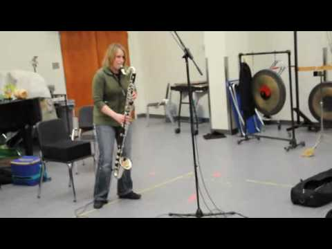 Kathryn Ladano, bass clarinet & Richard Burrows, percussion