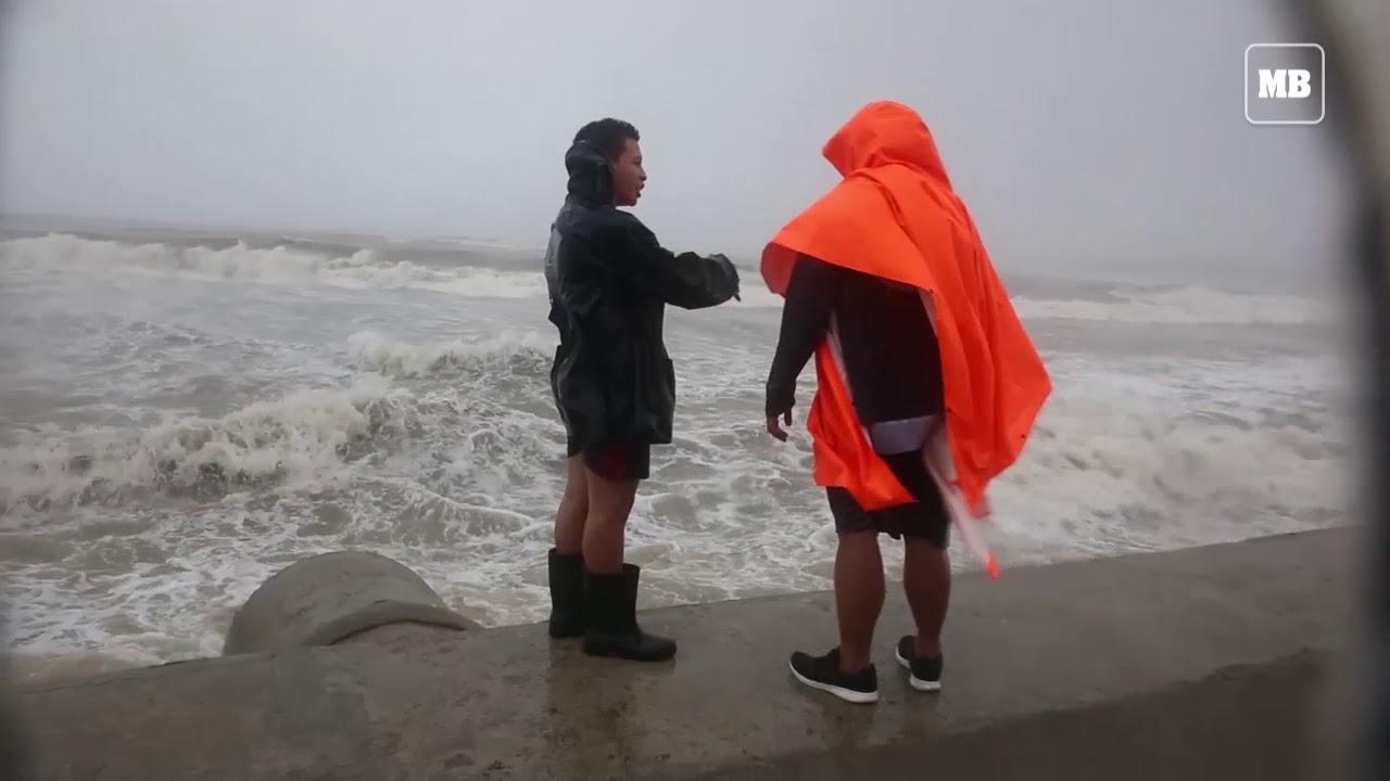 Violent winds, heavy rain batters La Union after 'Ompong' landfall