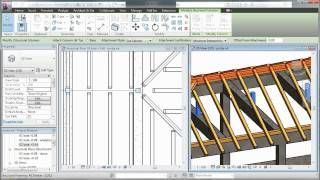 Autodesk Revit - Wooden Roof Structure