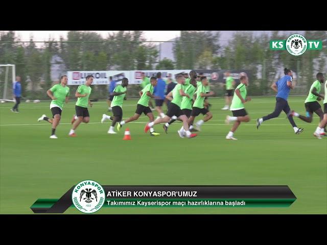 Atiker Konyaspor'umuz yaptığı antrenmanla Kayserispor maçı hazırlıklarına başladı