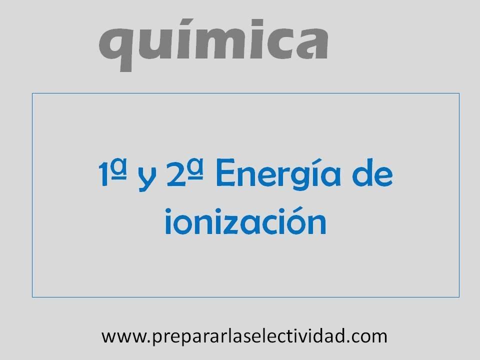 Primera y segunda energa de ionizacin youtube primera y segunda energa de ionizacin urtaz Gallery