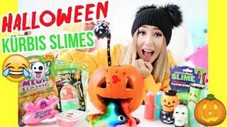 lustigster HALLOWEEN SLIME KÜRBIS (alle Halloween SCHLEIM mischen)