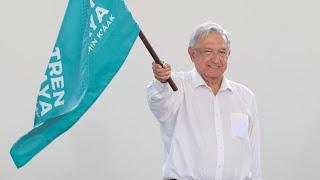 Banderazo de inicio de obra del Tren Maya, desde Benito Juárez, Quintana Roo
