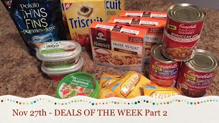 FREE & CHEAP GROCERY HAUL - Nov 27th - Deals Of The Week(, 2015-11-28T01:58:28.000Z)
