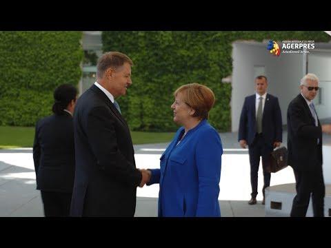 Iohannis, Discuții Cu Angela Merkel Despre Situația Politică De La București