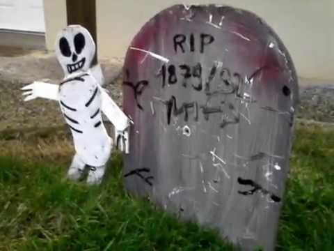 D cor fait maison intro ext rieur halloween youtube for Decoration exterieur halloween