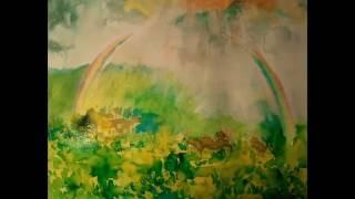 #8 Sunrain: by Lily Kostrzewa and Wendy Chu 8.太陽雨, 鋼琴演奏:朱萬馨, 水彩創作:李立婷, 譚盾鋼琴曲 - 八幅水彩画的回憶