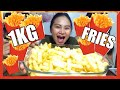 1KG OF FRENCH FRIES CHALLENGE! (MUKBANG)