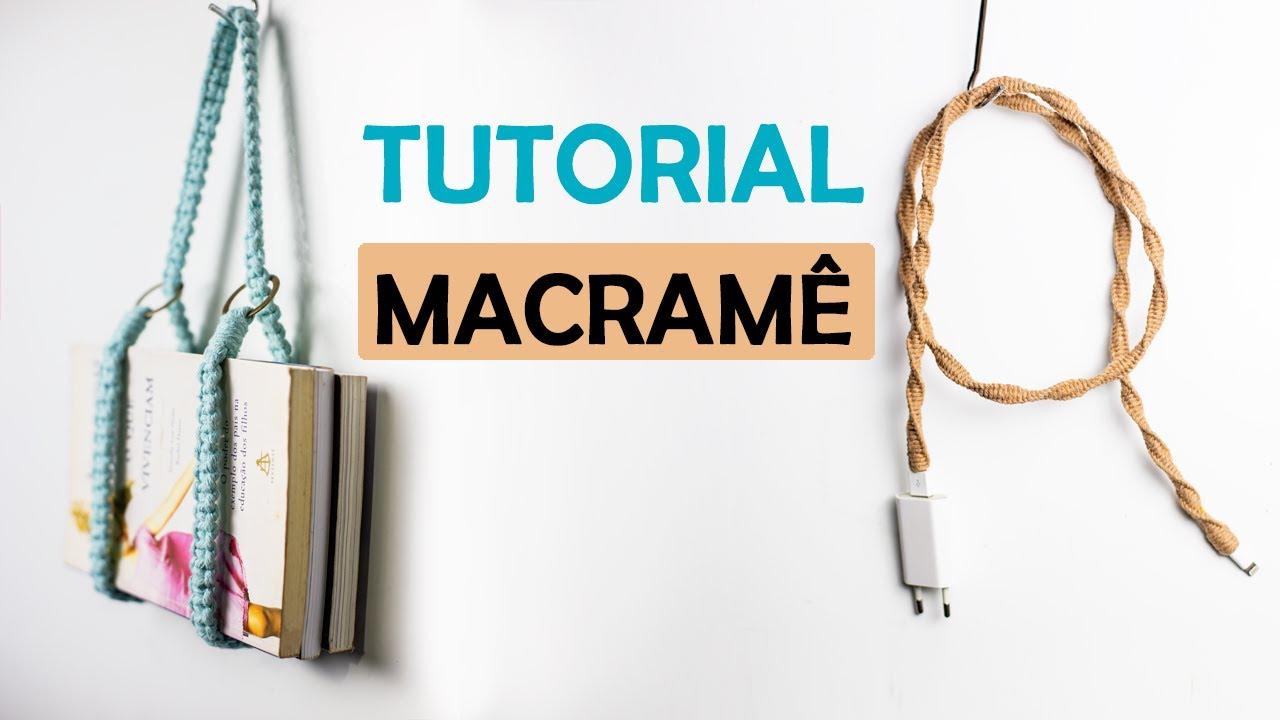 MACRAMÊ PASSO A PASSO | TUTORIAL DE MACRAMÊ | SUPORTE MACRAMÊ#macrame #macrameyoga #suporteemmacrame