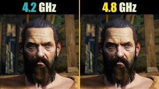 Video The Witcher 3 i7-7700K 4.2GHz vs 4.8GHz download MP3, 3GP, MP4, WEBM, AVI, FLV Oktober 2018