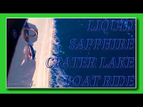 FT RV Living: Jaw-Dropping Liquid Sapphire Crater Lake Boat Ride