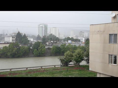 Ураганный ветер и град в Тбилиси Июнь 2018г.