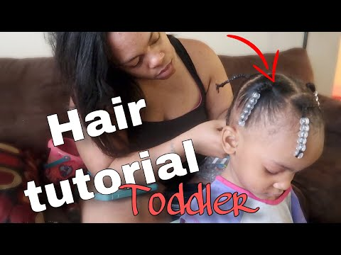Toddler's HairStyle For Short Curly Hair| Quick Hair Tutorial For Toddler | Vlogmas Day 16 thumbnail