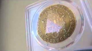 グレートブリテン1741 38年5ギニー金貨ジョージ2世 AU53 PCGS