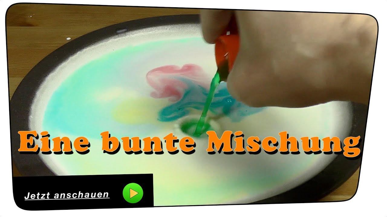 Bunte Farben mit Milch und Spülmittel - Experiment   Tutorial - YouTube