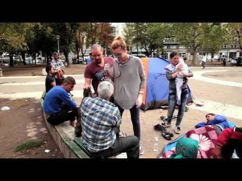 Serbia: Medics Use Park as Surgery