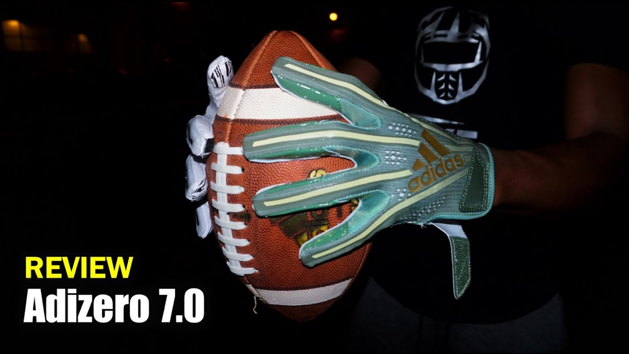 super popular f5501 7f0cb ADIDAS Adizero 7.0 Football Gloves Performance Review