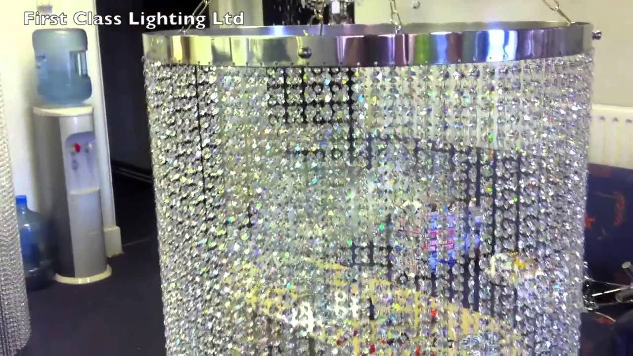 Made to measure custom made crystal chandelier lamp shades 2 from made to measure custom made crystal chandelier lamp shades 2 from first class lighting ltd youtube aloadofball