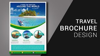 Cara membuat Brosur Wisata di photoshop Travel Brochure Design