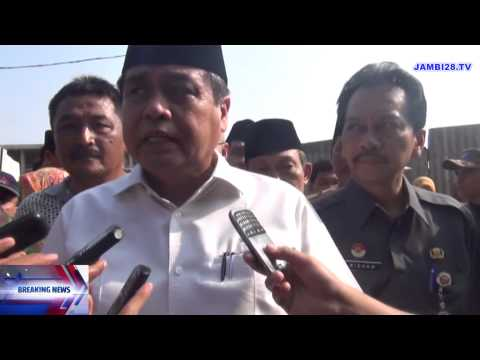Gubernur Jambi Sidak Ke Pasar Angso Duo