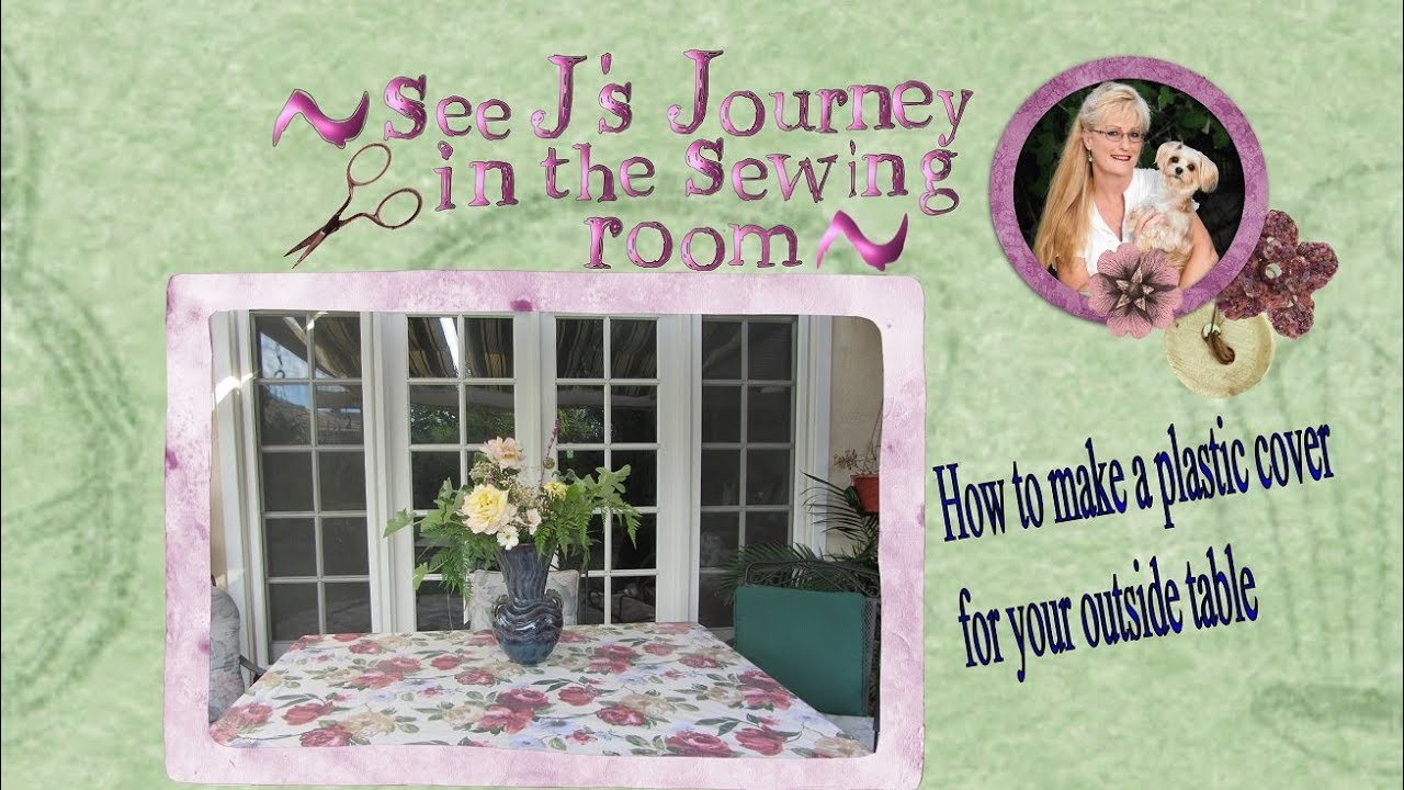 DIY Patio Table Cover From a Shower Curtain Liner - YouTube