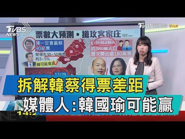 【談政治】拆解韓蔡得票差距 媒體人:韓國瑜可能贏