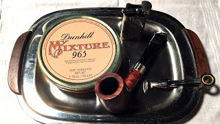 """Pipe Tobacco Review: Dunhill """"my Mixture 965"""""""