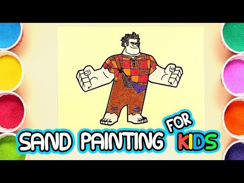 Wreck It Ralph | Sand Painting Art for Kids | How to Make Sand Painting