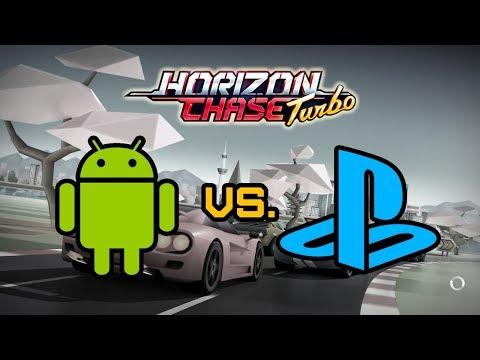Horizon Chase Turbo: Playstation 4 Vs Android [comparativo]