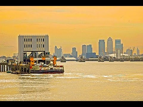 Riding The Woolwich Ferry, River Thames, London