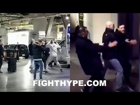 (MADNESS!!) CONOR MCGREGOR FLIPS OUT AND ATTACKS KHABIB NURMAGOMEDOV; SHATTERS BUS WINDOW