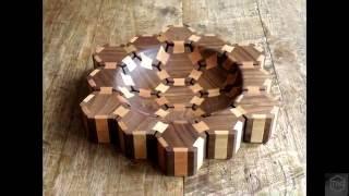 woodturning - butterfly hexagon bowl (short edit)