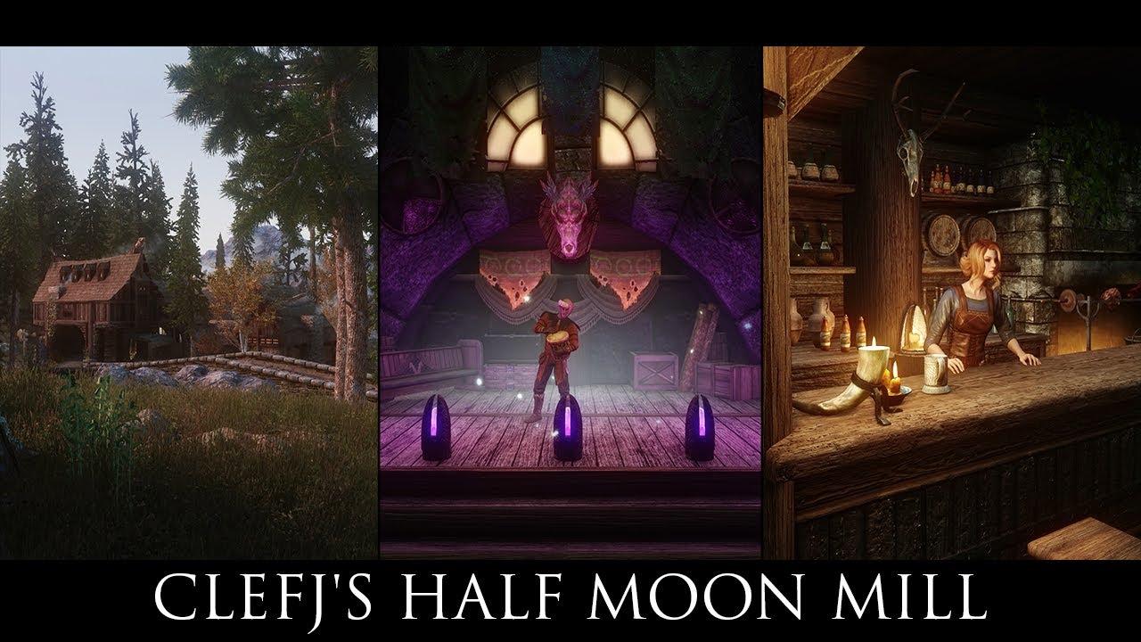 Skyrim SE Mods - ClefJ's Half Moon Mill - SE - Смотреть