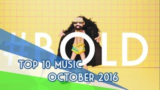 The Top 10 Music Videos «October/Octubre» (30/10/2016)