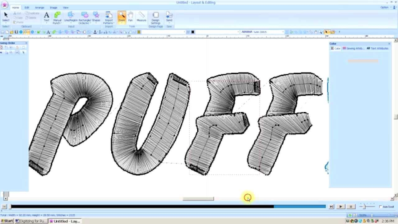 Brother Pe Design Next Digitizing For 3d Foam Lesson 38 Youtube