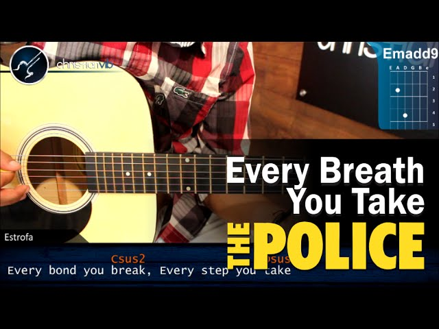 Como Tocar Every Breath You Take The Police En Guitarra Acustica Hd Tutorial Completo Youtube