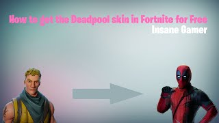 How to get the Custom Deadpool Skin free in Fortnite