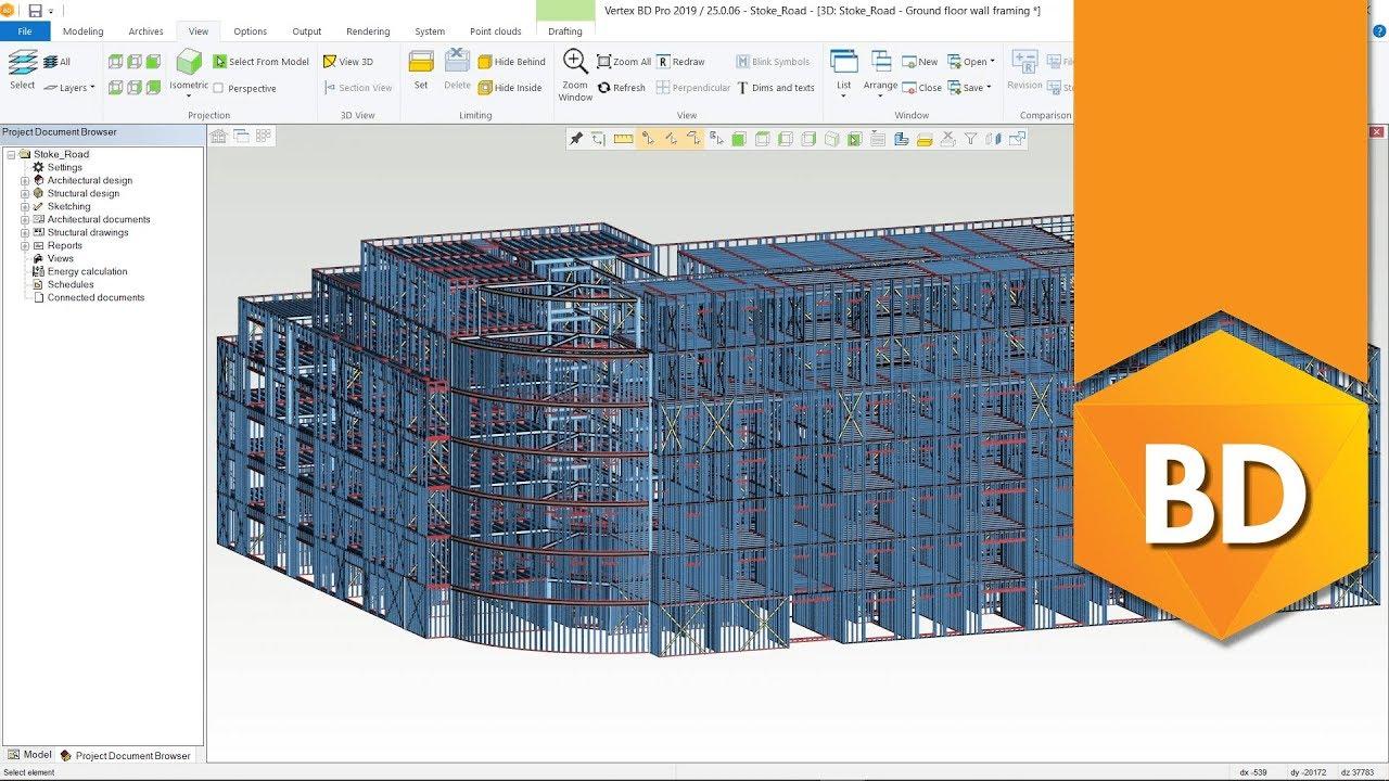 Professional Cold Formed Steel Framing Software Vertex Bd Software