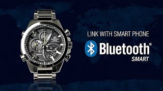 OFFICIAL VIDEO ~ EQB-500 CASIO Edifice Watch ~ LovinLifeMM(The EQB-500 is a Bluetooth® controlled timepiece. The linkage using a smartphone app enables users to operate various watch functions with their smartphone ..., 2014-09-30T18:29:14.000Z)